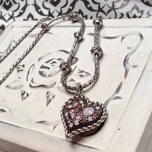 Brighton - Pink Stone Heart Necklace
